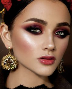tominamakeup reddish eyeshadow makeup