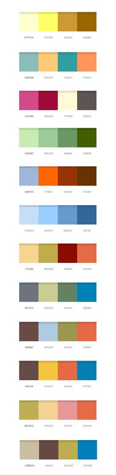 Rgb and hex codes for different skin and hair tones art Color combinations numbers
