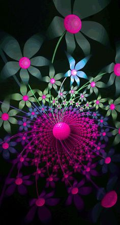 Funky pink flower