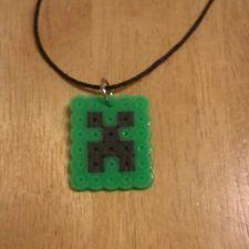 Creeper Minecraft Perler Necklace