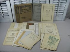 1900's Antique Concert Programs Large lot by NorCalTreasuresByKA
