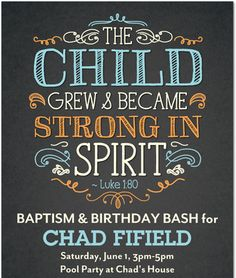 "Photo 1 of 16: Religious / Baptism ""Chad's Baptism/Birthday Party"" 