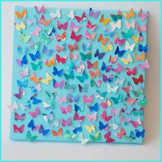 From eyes and blue eyes A super gorgeous, and super easy watercolor butterfly canvas project. Such a fun DIY home decor project to do with the kids. Class Art Projects, Auction Projects, Diy Projects For Kids, Craft Projects, Art Auction, Auction Ideas, School Auction, Craft Ideas, Kids Crafts