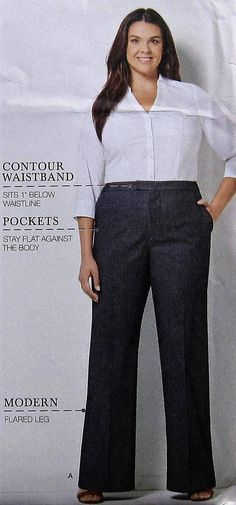 Pants Sewing Pattern UNCUT Simplicity 8056 Sizes 20w-28w Plus