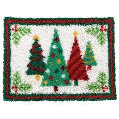 Latch Hook Kit Rug Cushion Pillow Mat Diy Christmas 52Cm Length Cross Stitch Needlework Crocheting