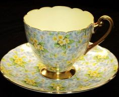Shelley Primrose Chintz simplyTclub Tea cup and saucer