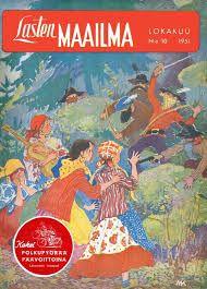 Lasten maailma -magazine cover by Maija Karma Finland, Karma, Childrens Books, Illustration, Cover, Artist, Movie Posters, Painting, Magazine