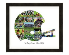 Football Coach Gift, Custom Made Football Helmet Photo Collage Print, Sports Lovers Personalized Gift Made From Your Photos! Team Gift by LuluBluePhoto on Etsy Football Coach Gifts, Football Crafts, Football Cheer, Football Helmets, Football Stuff, Custom Football, Football Rooms, Football Bedroom, Football Posters
