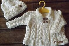 Free Knitting Pattern: Shortrows Baby Jacket
