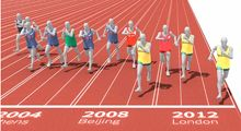 A fun and fascinating animation by NYTimes illustrating what would happen if every Olympic medalist raced each other.