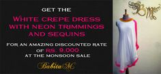 Get treated to some awesome discounts at the #MonsoonSale at the Babita M studio. Visit http://www.facebook.com/events/399029853548592/ for more details