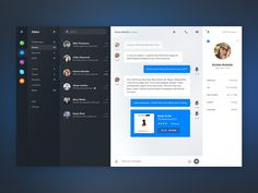 This instant messaging aggregator dashboard has an elegant ui design which can be used to create other types of dashboards. Great job done by Matt Thompson.