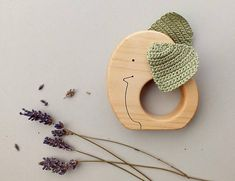 Wooden baby teether Elephant - Rattle - Eco-friendly - Wood toys for babies - Natural baby chew toys. Our teething toys are comfortable for babies to hold in their little hands, pleasant to touch and are safe to be chewed. This teething toy combines two chewing objects: a hard wooden