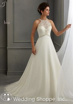 Blu by Mori Lee Bridal Gown 5264  -  I like the neckline of this gown, but not this gown exactly