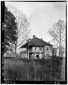 FANNIE RICHE PLANTATION, State Highway 30, New Roads, Pointe Coupee Parish, LA. Side/West Elevation. Historic American Buildings Survey. Richard Koch, Photographer. May 1936.