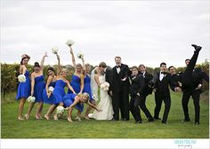 Sarah Pudlo & Co www.sarahpudlo.com Fall Rustic Wedding- tell your bridal party to strike a pose and watch what happens!