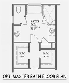 Narrow Master Suite Layout Master Bathroom With Closet Floor Plans