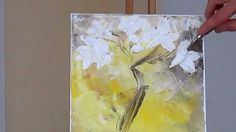 Tanja Bell How to Paint White Blossom Tutorial Palette Knife Painting Technique, via YouTube.