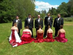 Definitely not the first pose you learn in wedding photography school. (submitted by Kevin)