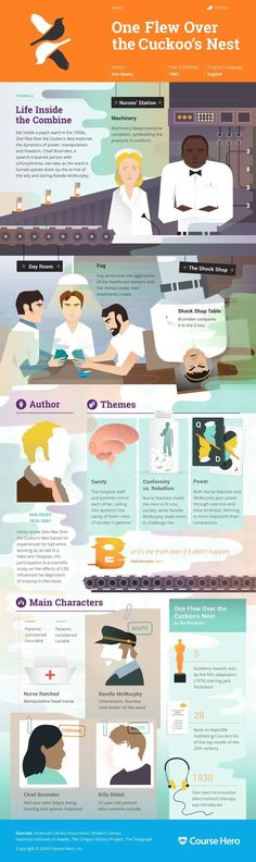 This 'One Flew Over the Cuckoo's Nest' infographic from Course Hero is as…