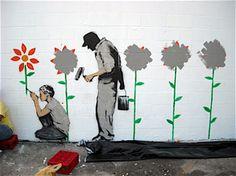 Banksy es un maestro de la expresión juvenil y urbana! que exponentes de este tipo te gustan a ti?