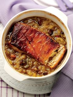 Phil Vickery's Pot Roast Pork Belly with Bramley Apples and Celery | Bramley Apples