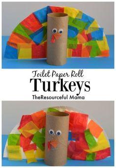 Toilet Paper Roll Turkey Kid Craft