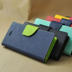 Custodia Slim A Libro Portafogli Luxury Flip Cover Case Magnetica In Ecopelle
