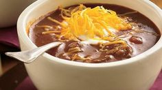 Bottled beer adds depth to this rich chili that's perfect for the big game or any day that needs a little warmth.