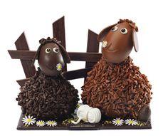 Chocolate sheep -La Maison du Chocolat - Frisoton et Frisette Chocolate Pack, Chocolate Coins, Chocolate World, Chocolate Heaven, Love Chocolate, Chocolates, Chocolate Showpiece, Cupcake Cakes, Cupcakes