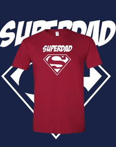 Cool Superdad Shirt Fathers Day Superman Dad Grandparent Tshirt  Gift Idea Tee Shirt Mens Sizes S-3XL 14 Color Choices Available on Etsy, $13.99 Superman Party, Mens Tee Shirts, T Shirt, Bleach Shirts, Super Dad, Heat Transfer Vinyl, 50th Birthday, Family Life, Early Childhood