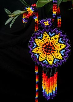 Huichol pendant Beaded huichol necklace Seed bead jewelry Necklace for woman Native American jewelry Fringe necklace, Fringe Necklace, Seed Bead Necklace, Seed Bead Jewelry, Beaded Earrings, Seed Beads, Beaded Jewelry, Jewelry Necklaces, Beaded Bracelets, Beaded Flowers Patterns