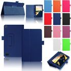 Magnetic Leather Case Cover For Amazon Kindle Fire HD 8 2017 7th Gen Dark Blue