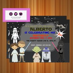 Star Wars Invitation Personalized Party by socuteandsweet $12.00