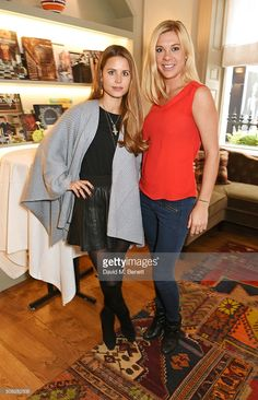 Rosie Fortescue (L) and Chelsy Davy attend the launch of Forte Organics hosted by Irene Forte at Brown's Hotel, a Rocco Forte Hotel, on February 4, 2016 in London, England.