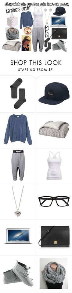 """Sick with the flu, but still have to work (Karoline)"" by karolinebhn ❤ liked on Polyvore featuring Monki, Organic by John Patrick, American Eagle Outfitters, Betteridge, Dinny Hall, River Island, Valentino and H&M"