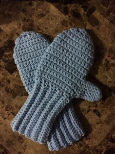 Light blue mittens