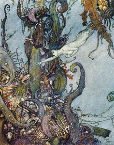 Edmund Dulac The Little Mermaid ~ Oh man, I'd really like to have this one to go with my collection.
