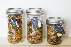 Domácí granola Granola, Korn, Smoothies, Sweet Tooth, Mason Jars, Homemade, Smoothie, Muesli, Mason Jar