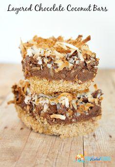 Layered Chocolate Coconut Cream Bars Recipe
