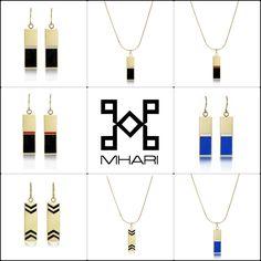 MHARI - Matte Gold Bar Jewelry- Black and Gold Jewelry - Red and Black Jewelry - www.mharipatterson.com Black Jewelry, Gold Jewelry, Matte Gold, Cloths, Arrow Necklace, Bar, Drop Cloths, Gold Jewellery, Fabrics