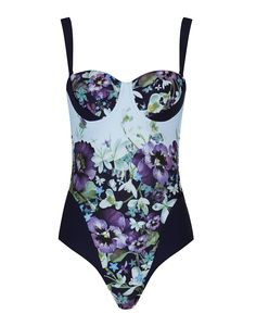 The Ted Baker Sirinea swimsuit is a summer holiday essential as it will keep you looking stylish and on trend around the pool or at the beach. With a one piece design, the Sirinea swimsuit features the classic Entangled Enchantment floral print all-over a