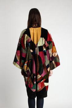 RESERVED 1940s Patchwork Jacket . Crazy Quilt Velvet by VeraVague