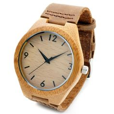 BOBO BIRD Leather Wood Watches Men Quartz Analog Watches Casual Men Watches