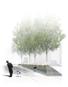 Design Visual For Plaza del Raval de Sant Josep. Architecture Panel, Architecture Graphics, Architecture Visualization, Architecture Student, Architecture Drawings, Landscape Architecture, Conceptual Architecture, Classical Architecture, Ancient Architecture