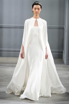 Stunning gown with cape, Monique Lhuillier Spring 2014