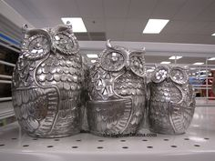 owls decor | One of my favorite items is this adorable family of Owls decor.