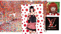 """Polka dot fans - watch out! Visionary Japanese artist Yayoi Kusama and designer extraordinaire Marc Jacobs have collaborated on a limited edition collection of apparel and accessories in these explosive dots for Louis Vuitton, inspired by Kusama's spotted oeuvre and preferred theme, """"Love Forever."""" According to Marc Jacobs, """"The dots represent something that has no points, no hard edges and is infinite. And what could be nicer than infinite love?"""" We think so, too."""