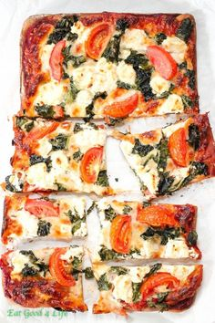 Whole wheat kale goat cheese pizza. One of our favorite pizza combo of all times. You can use low fat cheese if you like!