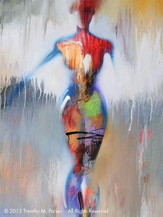 Figures  Abstract Nude Art  Modern Figure Painting by FigureArt, $75.00
